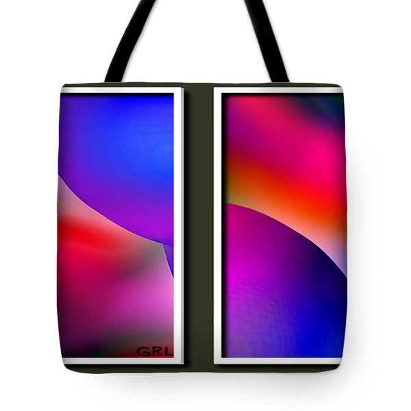 Inner Cosmos 2 Red Diptych Contemporary Digital Art  Tote Bag