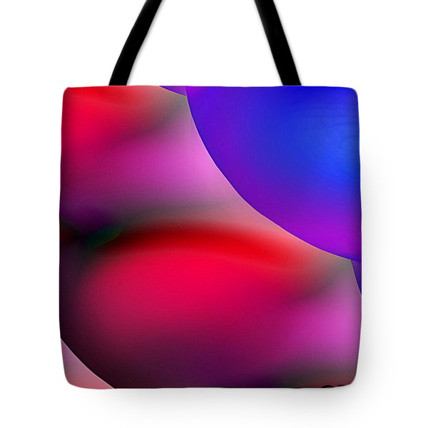 Inner Cosmos 2 Red II Diptych Left  Contemporary Digital Art Tote Bag
