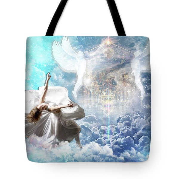 Tote Bag featuring the digital art Inner Courts by Dolores Develde