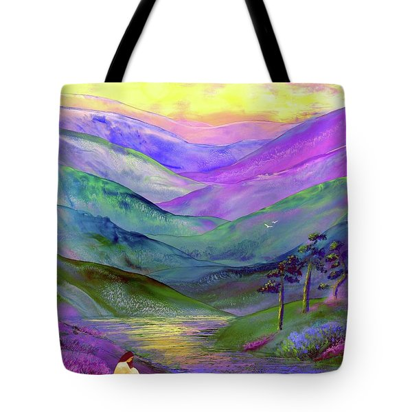 Inner Flame, Meditation Tote Bag