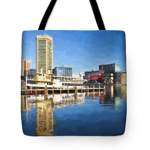 Inner Harbor Reflections  Tote Bag