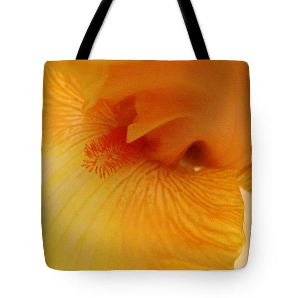 Inner Iris, Yellow, Close-up Tote Bag