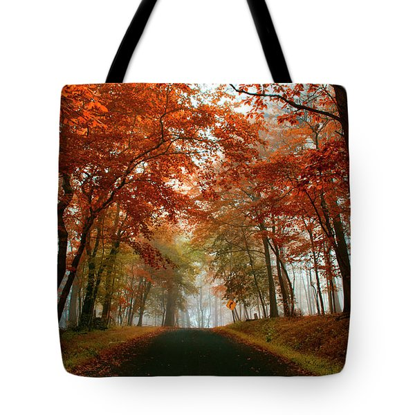 Inner Line Road At Valley Forge Tote Bag