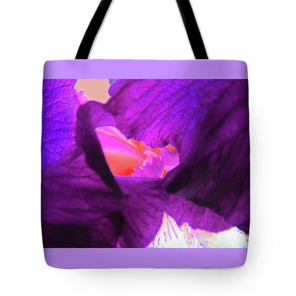 Inner Sanctum - Iris Macro - Floral Photography Tote Bag