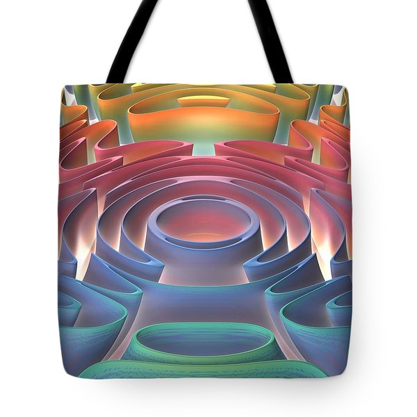 Tote Bag featuring the digital art Inner Sanctum by Lyle Hatch