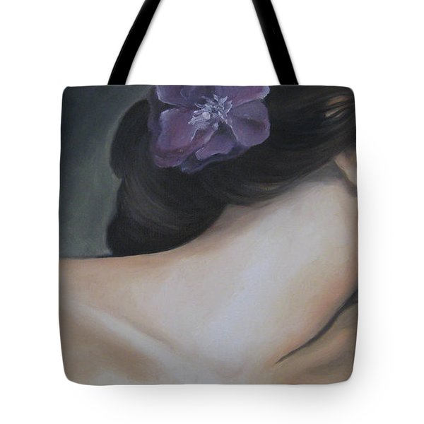Tote Bag featuring the painting Innocence by Jindra Noewi