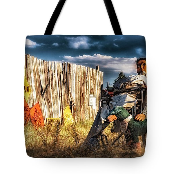Tote Bag featuring the photograph Insanity by Bitter Buffalo Photography