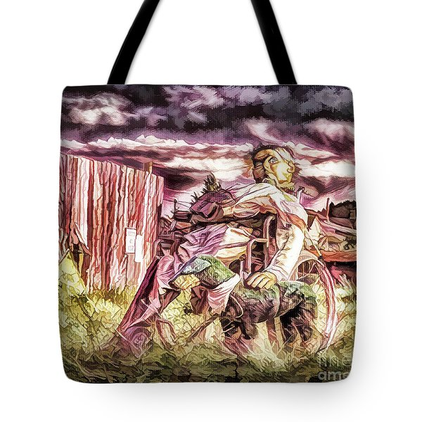 Tote Bag featuring the photograph Insanity-digital by Bitter Buffalo Photography