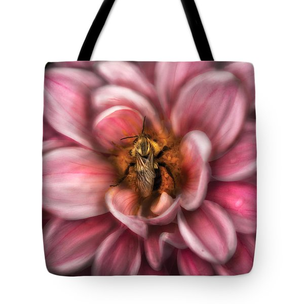 Insect - Bee - Center Of The Universe  Tote Bag by Mike Savad