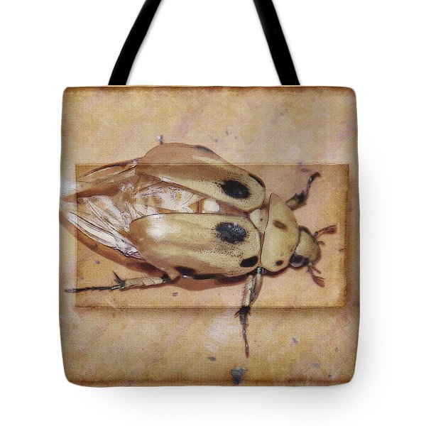Insect On Wooden Board Tote Bag