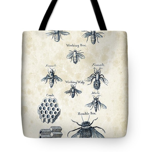 Insects - 1792 - 14 Tote Bag by Aged Pixel