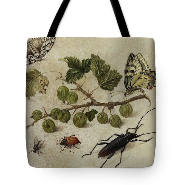 Insects And Butterfly Tote Bag