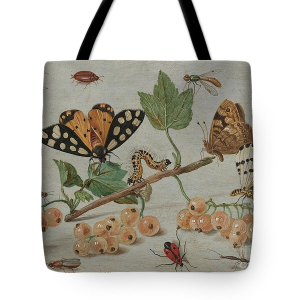 Insects And Fruit, Tote Bag