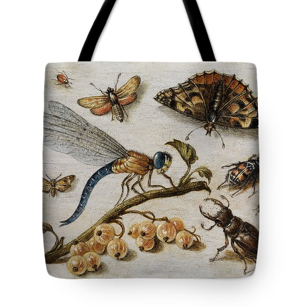 Insects, Currants And Butterfly Tote Bag