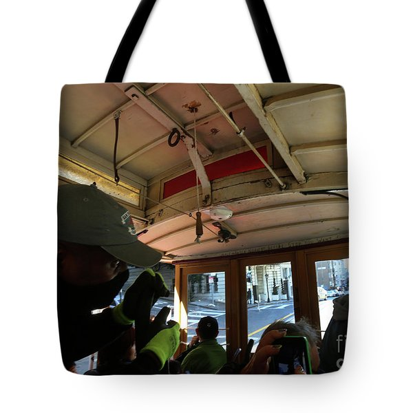 Tote Bag featuring the photograph Inside A Cable Car by Steven Spak
