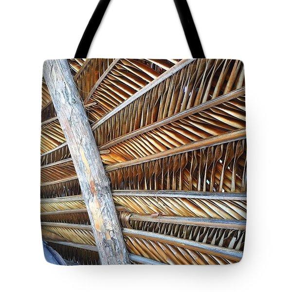 Palm Thatch Detail  Tote Bag