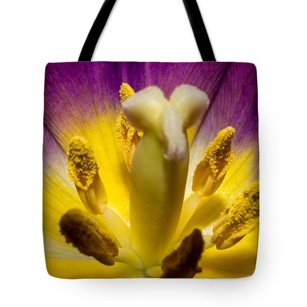 Inside A Purple Tulip Tote Bag by Rainer Kersten