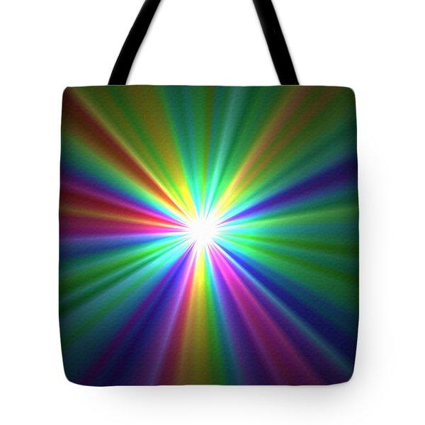 Inside A Rainbow Tote Bag