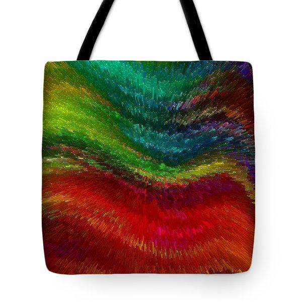 Inside A Rainbow Tote Bag by Stuart Turnbull