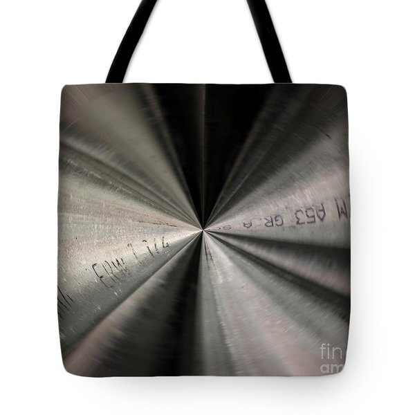 Inside A Steel Pipe Tote Bag