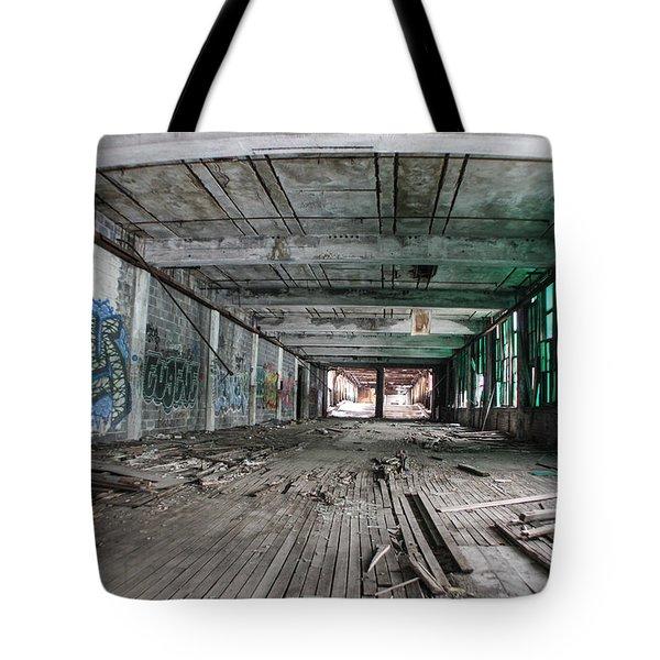 Inside Detroit Packard Plant  Tote Bag