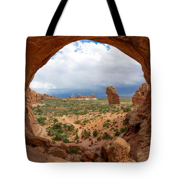 Inside Double Arch Tote Bag