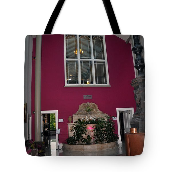 Inside Entry Lyrath Estate Hotel Tote Bag by Cindy Murphy - NightVisions