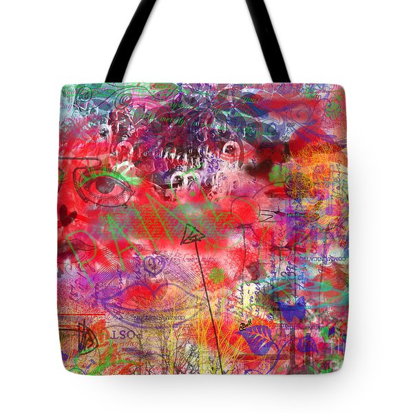 Inside Her Head Tote Bag by Claire Bull