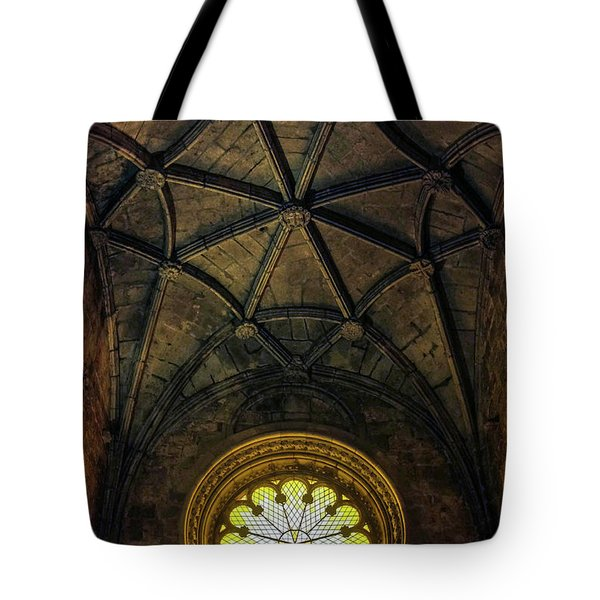 Tote Bag featuring the photograph Inside Jeronimos by Carlos Caetano
