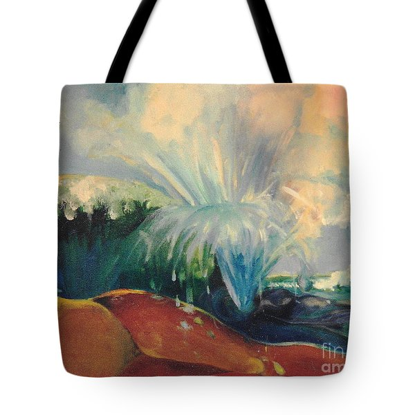 Inside Mommy's Waters Tote Bag by Daun Soden-Greene