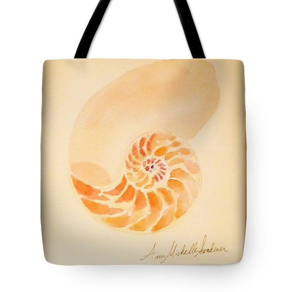 Inside Of A Nautilus Tote Bag by Ann Michelle Swadener