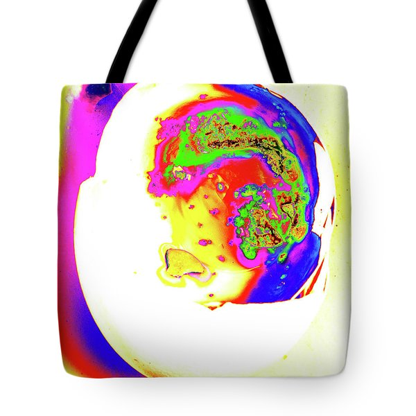 Tote Bag featuring the photograph Inside Out Easter Egg by Onyonet  Photo Studios