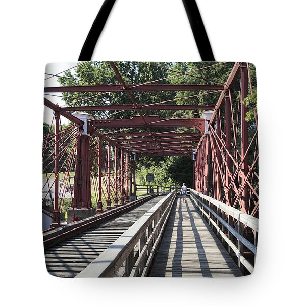Inside The Bollman Truss Bridge At Savage Maryland Tote Bag