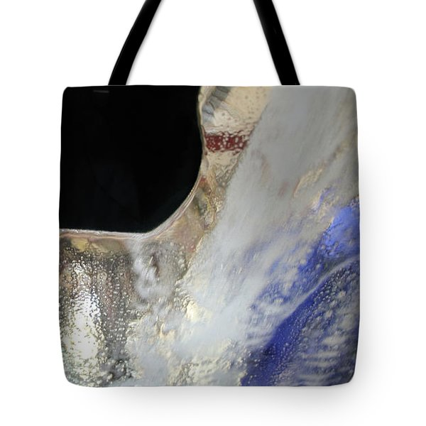 Tote Bag featuring the digital art Inside The Carwash by Kathleen Illes
