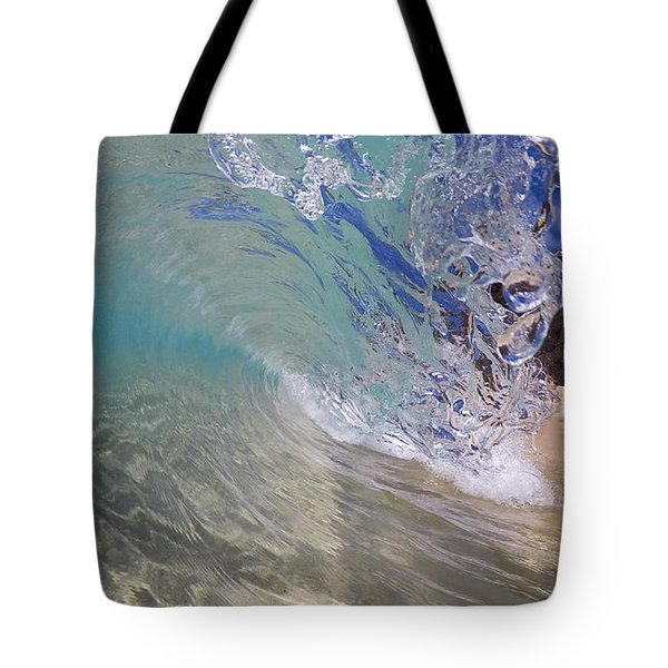 Inside The Curl Big Beach Maui Wave Tote Bag