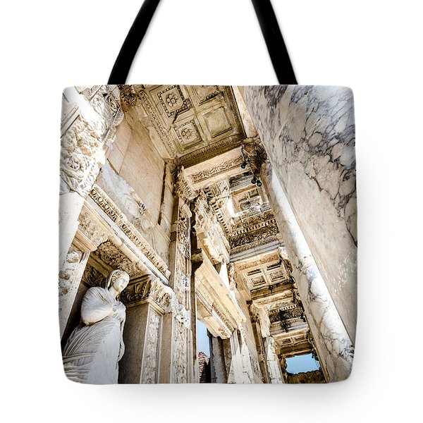 Inside The Ephesus Library  Tote Bag