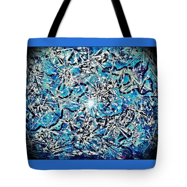Inside The Large Hadron Collider -or- Paint Number Three Tote Bag by Scott Haley