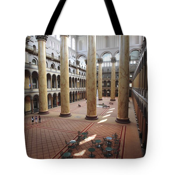 Inside The National Building Museum In Washington Dc Tote Bag