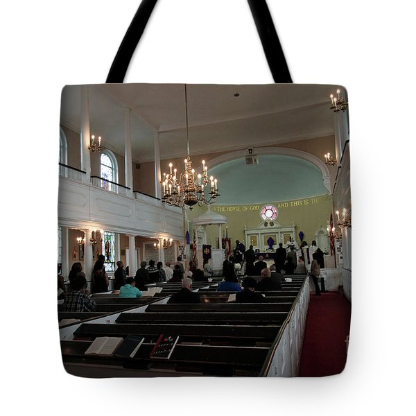Inside The S. Georges Church Episcopal Anglican Tote Bag