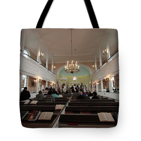 Inside The St. Georges Episcopal Anglican Church Tote Bag