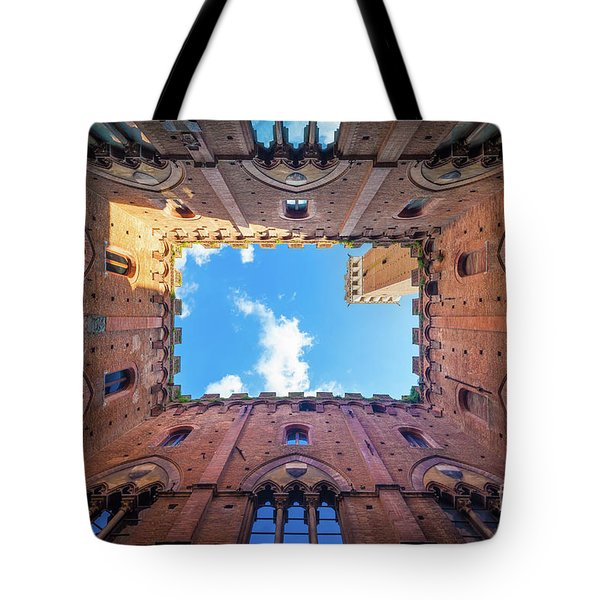 Inside The Tower Tote Bag by Inge Johnsson