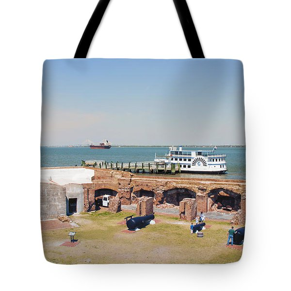 Inside View Of Fort Sumter Tote Bag