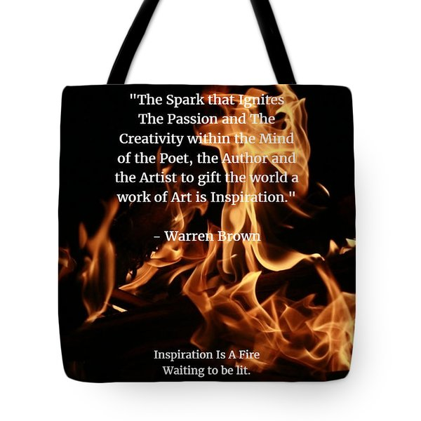 Inspiration And Creativity Tote Bag by Warren Brown
