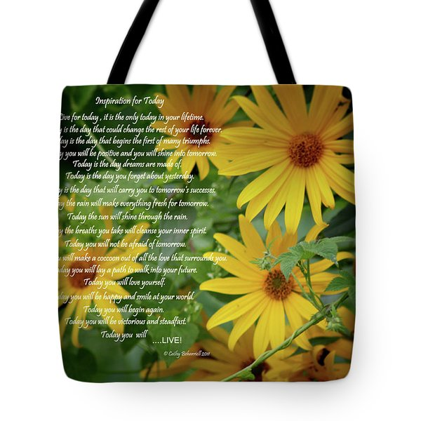 Inspiration For Today Floral Tote Bag
