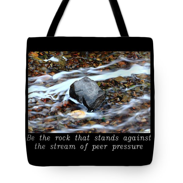 Inspirational-be The Rock Tote Bag