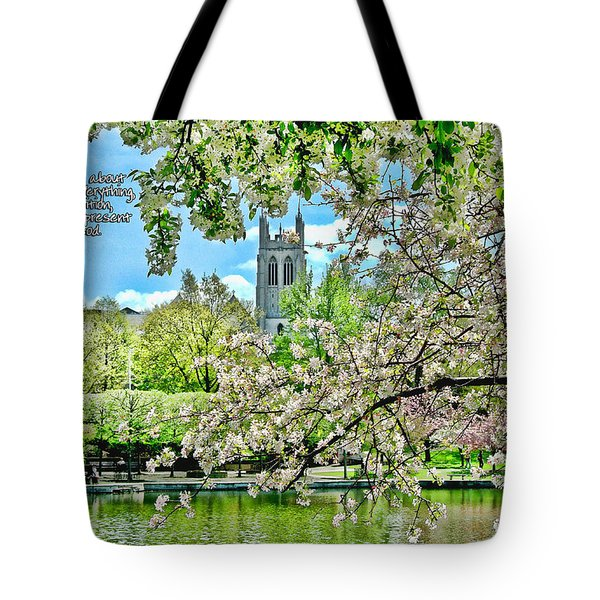 Inspirational - Cherry Blossoms Tote Bag