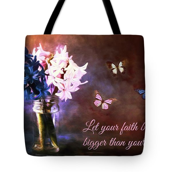 Inspirational Flower Art Tote Bag by Tina LeCour