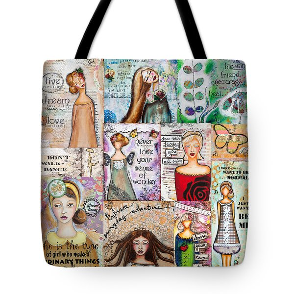 Inspirational Mix Tote Bag by Stanka Vukelic