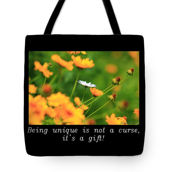 Inspirational-being Unique Is A Gift Tote Bag
