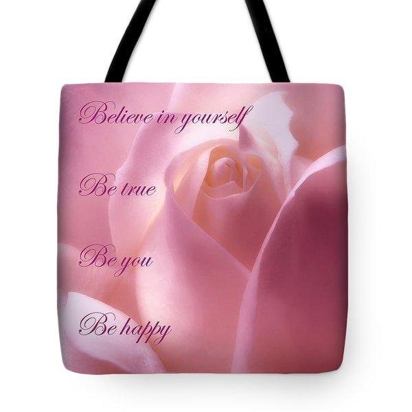 Inspirational Rose Tote Bag